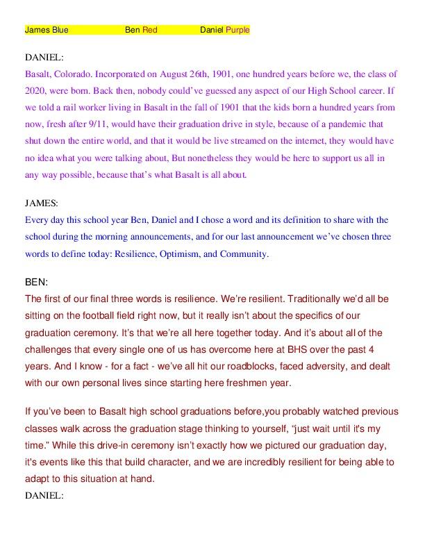 2020 Head Student Graduation Speech - Kara Williams.pdf